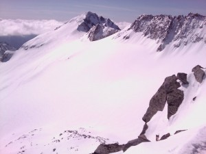 Vista del Glaciar del Aneto desde la Maladeta Oriental