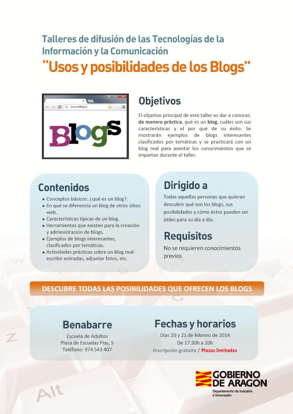 Taller en BENABARRE sobre Usos y posiblidades de los Blogs